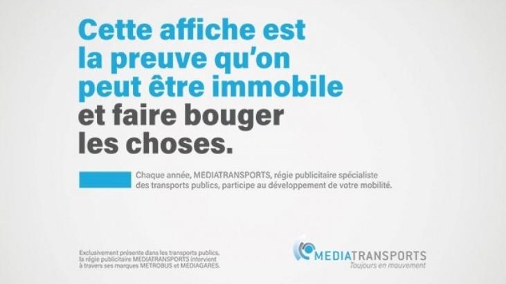 MEDIATRANSPORTS : Une première campagne corporate avec La Chose
