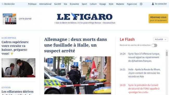 Le Figaro met en ligne une nouvelle version de son site Internet unique