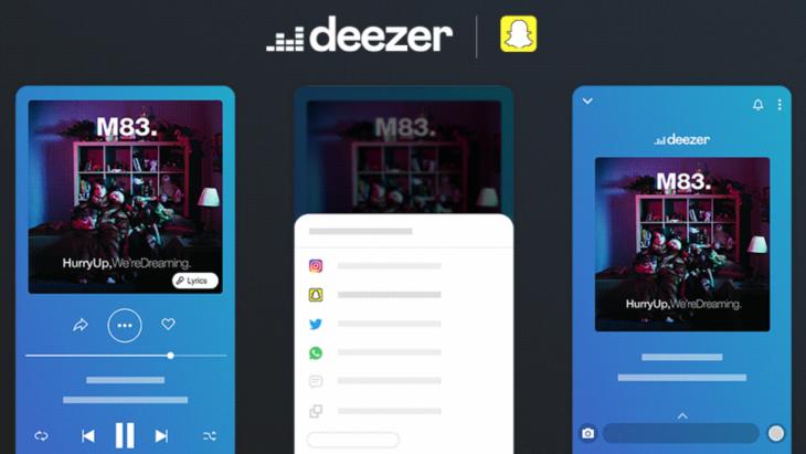 Snapchat accueille Deezer
