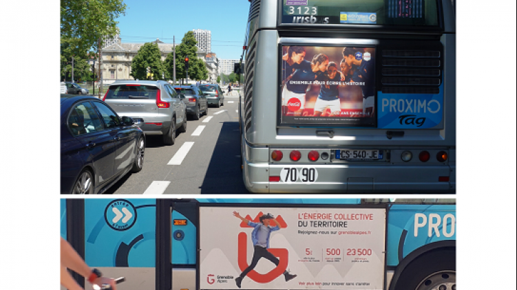 Les bus de Grenoble reconduisent Clear Channel