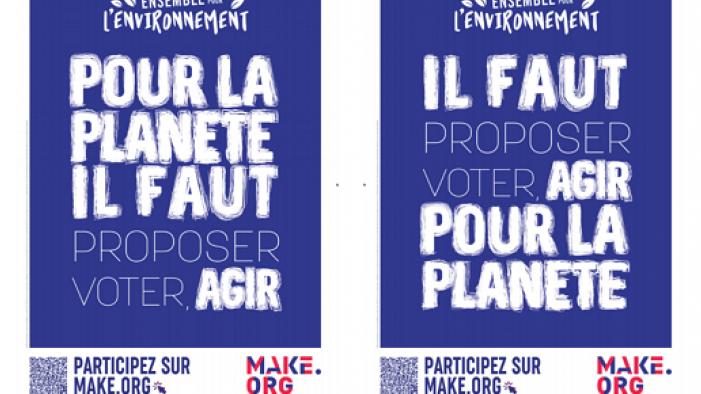 JCDecaux consacre 5 500 faces à une consultation sur l'environnement entre le 25 décembre et le 7 janvier avec Make.org