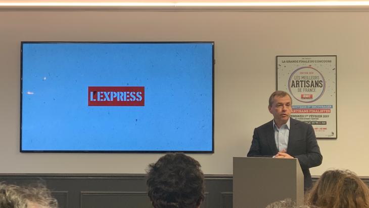 L'EXPRESS réinventé en kiosque le 16 janvier