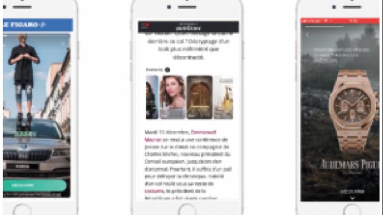 Trois Nouveaux formats publicitaires mobiles pour MEDIA.Figaro
