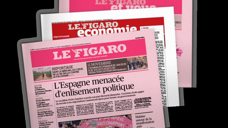 Saint Valentin : Le Figaro tout en rose pour Christian Dior Parfums