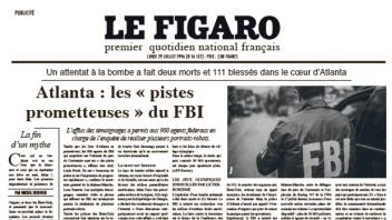 Media.figaro et 14Haussmann reconstituent une «Une» du Figaro avec des articles de 1996 à l'occasion de la sortie du film «Le Cas Richard Jewell»