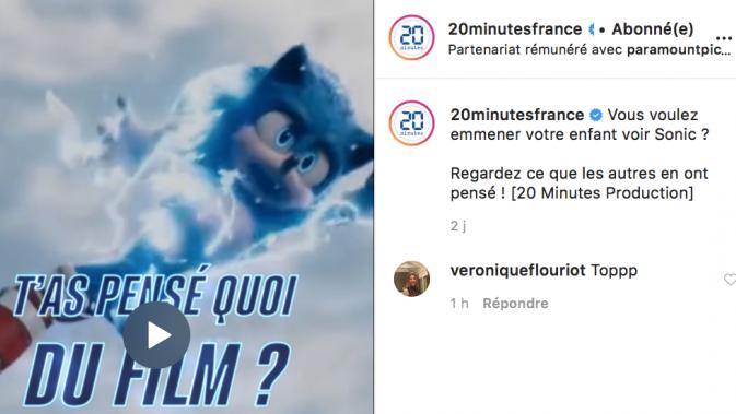 Partenariat 20 Minutes et Sonic Le Film : La vidéo testimoniale