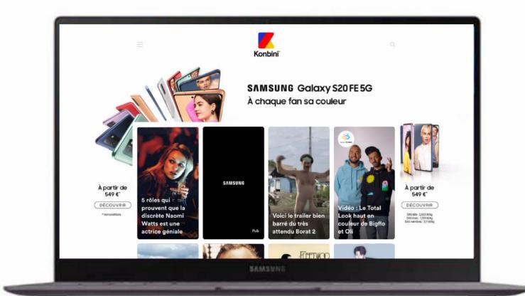 Konbini inaugure un nouveau format publicitaire avec Samsung