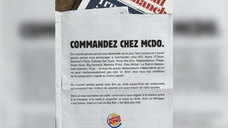 Burger King à la rescousse des enseignes de restauration