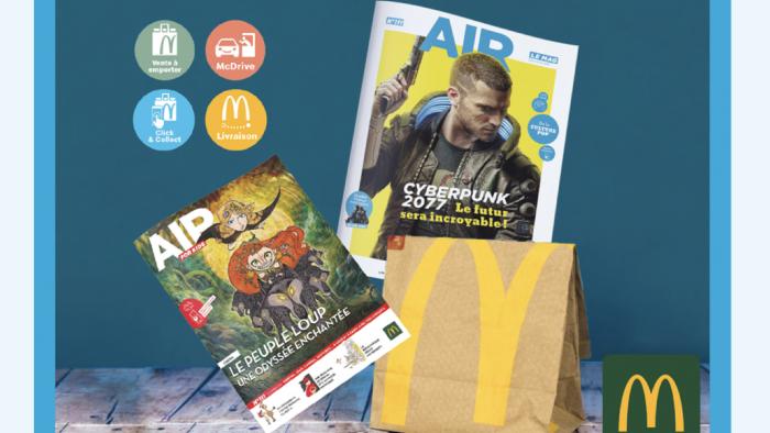 Les magazines de McDonald's France, AIR LE MAG& AIR FOR KIDS, disponibles en Drive et Click& Collect !