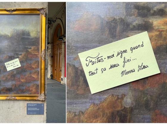 À Paris, la Joconde se fait la malle pour dénoncer la fermeture des musées