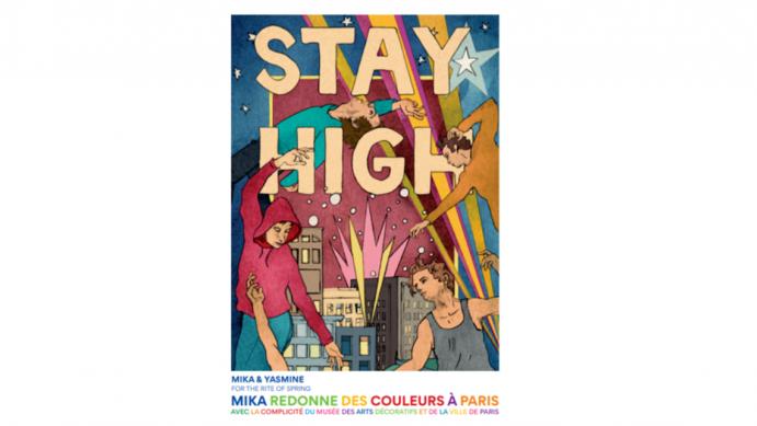 JCDecaux offre ses mâts-drapeaux et colonnes Morris de Paris à Mika et plusieurs artistes