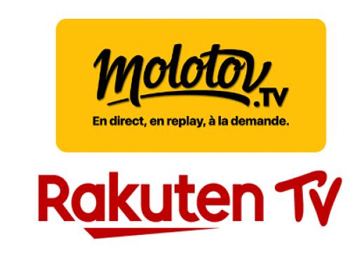 L'espace de Molotov TV et Rakuten TV disponible au sein d'une offre commune